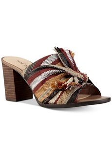 Nine West Byron Knotted Block-Heel Mules Women's Shoes