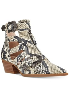 Nine West Carrillo Cutout Buckle Booties Women's Shoes