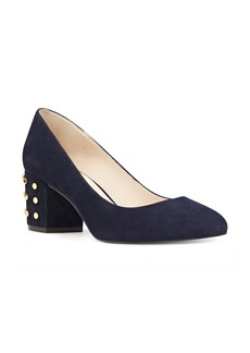 Nine West Cerys Studded Block Heel Pump (Women)