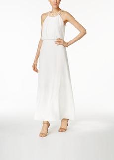 Nine West Chiffon Embellished Maxi Dress