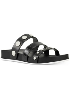 Nine West Cocco Studded-Strap Footbed Sandals Women's Shoes