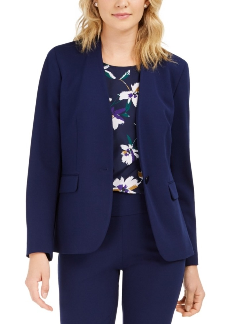 Nine West Collarless Blazer