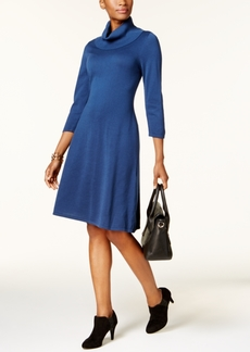 Nine West Cowl-Neck Sweater Dress