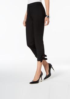 Nine West Cropped Tie-Hem Skinny Pants