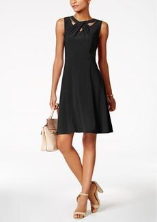 Nine West Cross-Neck A-Line Dress