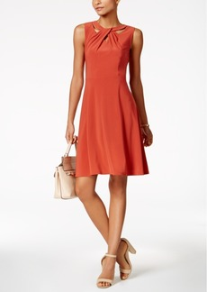 Nine West Cross-Neck A-Line Dress