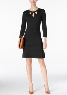 Nine West Cutout Fit & Flare Sweater Dress