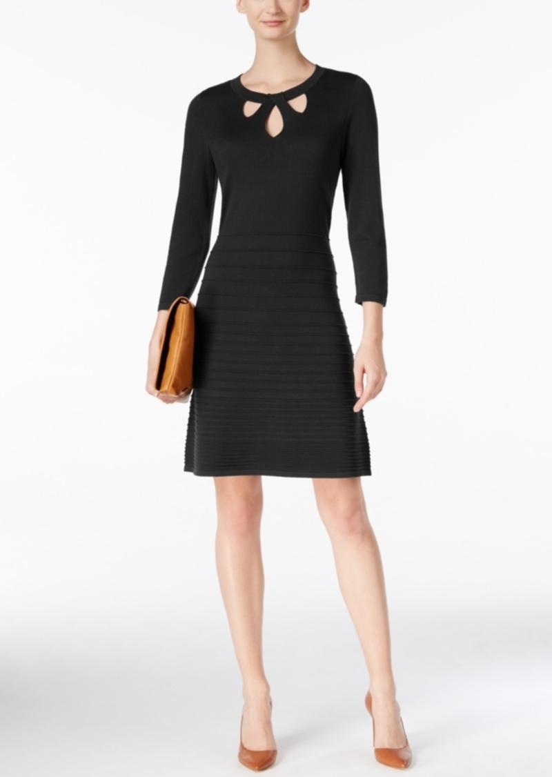 2fa447fb604 Nine West Nine West Cutout Fit   Flare Sweater Dress