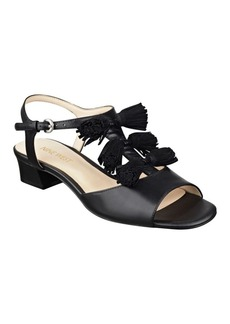 Nine West Daelyn Leather T-Strap Sandals