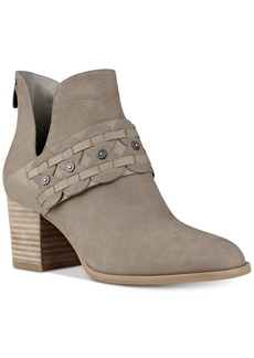 Nine West Danbia Block-Heel Booties Women's Shoes