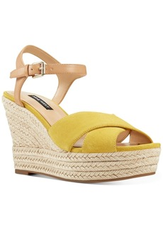 Nine West Dane Platform Espadrille Wedge Sandals Women's Shoes