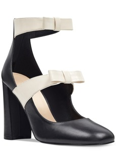 Nine West Dannell Block-Heel Dress Pumps Women's Shoes