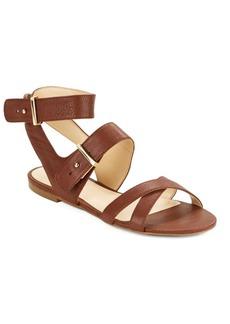 Nine West Darcelle Leather Flat Sandals