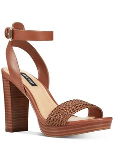 Nine West Deluxe Woven Platform Sandals Women's Shoes