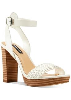 Nine West Deluxe Woven Platform Sandals Women's Shoes