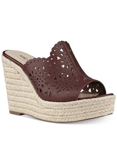 Nine West Derek Espadrille Platform Wedge Sandals Women's Shoes