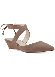 Nine West Elira Pointed-Toe Two-Piece Wedges Women's Shoes