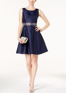 Nine West Embellished Fit & Flare Dress