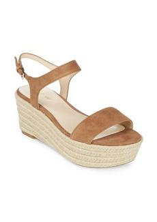 Nine West Fanchette Suede Espadrille Platform Sandals