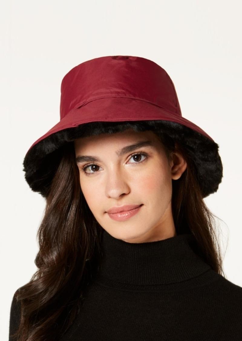 Nine West Nine West Faux-Fur Reversible Rain Bucket Hat Now  21.60 02c83268cac