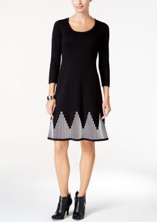 Nine West Fit & Flare Sweater Dress