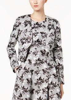 Nine West Floral Jacquard Open-Front Blazer