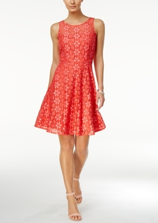 Nine West Floral Lace A-Line Dress