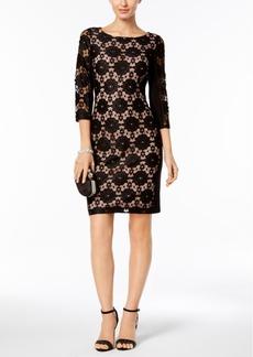 Nine West Floral Lace Sheath Dress