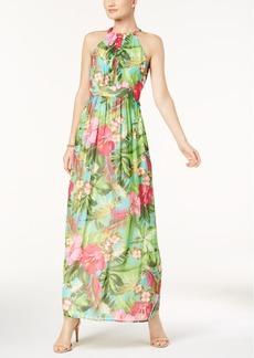Nine West Floral-Print Halter Maxi Dress