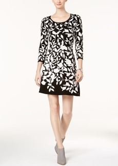 Nine West Floral-Print Sweater Dress