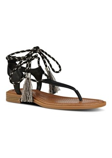 Nine West Gannon Leather Flat Thong Sandals