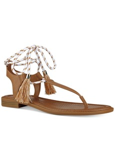 Nine West Gannon Tassel Lace-Up Thong Sandals Women's Shoes