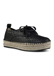 Nine West Garza Perforated Double Espadrille Platform Sneakers