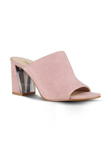 Nine West Gemily Block Heel Slide Sandal (Women)