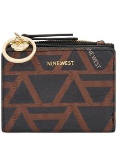 Nine West Geo Logo Small Zip Wallet