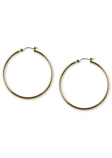 "Nine West Gold-Tone 2"" Tube Hoop Earrings"