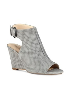 Nine West Gordana Textured Suede Wedges