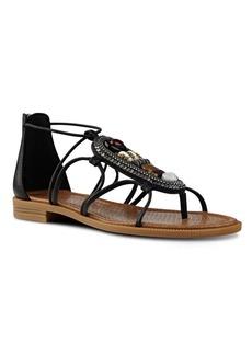 Nine West Grinning Embellished Leather Sandals