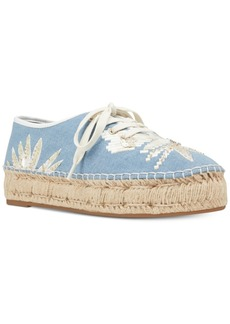Nine West Guinup Lace-Up Espadrilles Women's Shoes