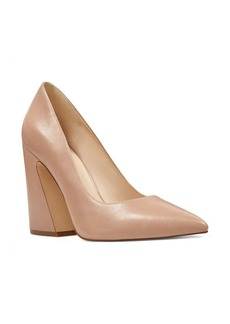 Nine West Henra Leather Block Heel Pumps