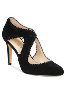 Nine West Hypatia Pointed Lace-Up Cutout Pumps Women's Shoes