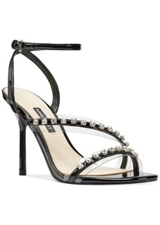 Nine West Ismene Vinyl Evening Sandals Women's Shoes