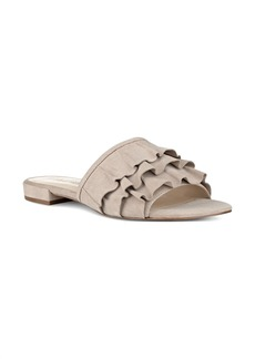 Nine West Ivarene Ruffle Slide Sandal (Women)