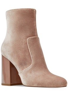 Nine West Jilene Block-Heel Booties Women's Shoes
