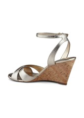 Nine West Kami Ankle Strap Wedge Sandal (Women)