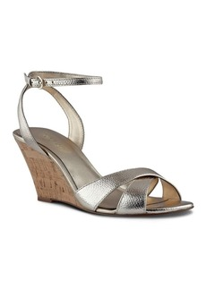 Nine West Kami Leather Wedge Sandals