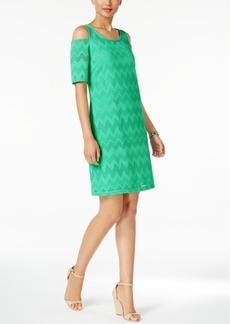 Nine West Knit Cold-Shoulder Sheath Dress