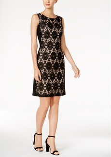Nine West Lace-Panel Sheath Dress