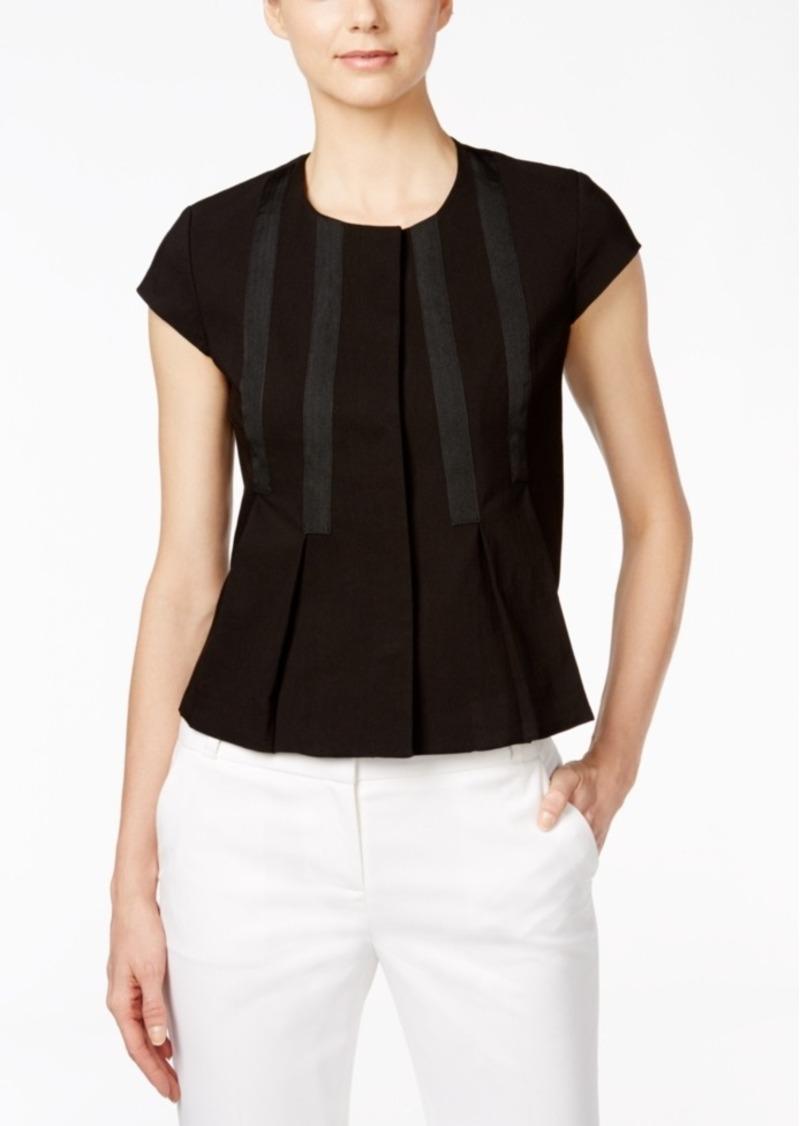 Nine West Lace Short-Sleeve Jacket