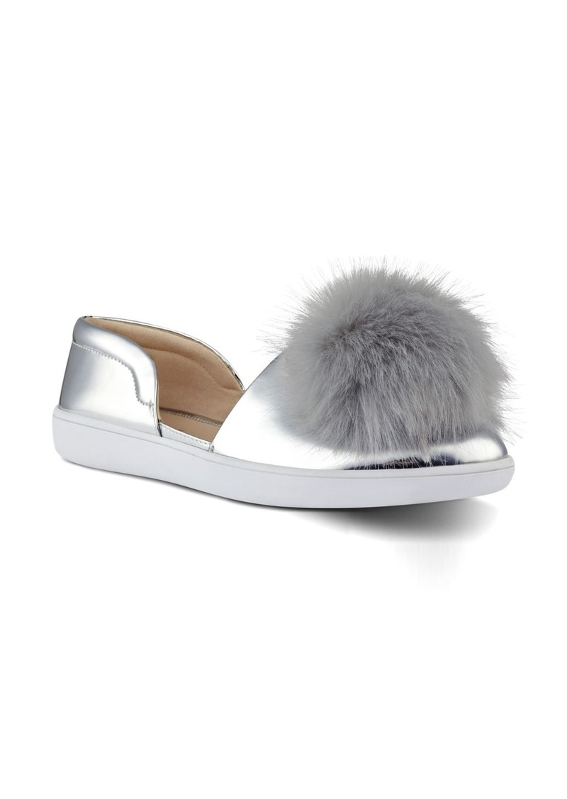 Nine West Leah Pompom Flat (Women)